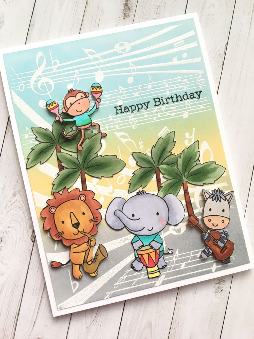 Today I Am Sharing A Birthday Card Made For My Niece This Is Perfect Her Because She Music Teacher And Cellist
